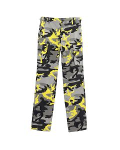 BALENCIAGA PANTS/TBLG4 / GREY-YELLOW