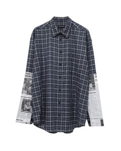 BALENCIAGA SHIRT/TBM15 / 4324 : BLUE-GREY