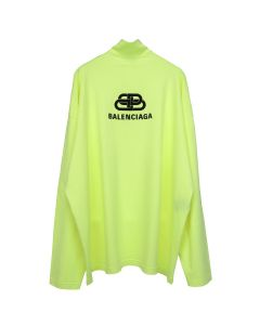 BALENCIAGA TFV65/T-SHIRT / 7072 : LIME-BLACK