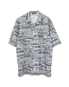 BALENCIAGA TFL17/SHIRT / 9040 : WHITE-BLACK