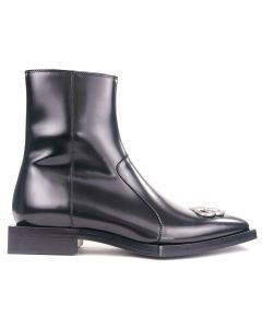 [お問い合わせ商品] BALENCIAGA WA8E1/LEATHER BOOT / 1081 : BLACK