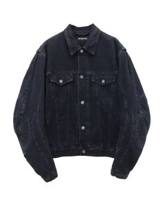 [お問い合わせ商品] BALENCIAGA TEW36/BIKER JACKET / 4401 : MIDNIGHT