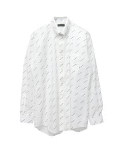BALENCIAGA TBL96/SHIRT / 9040 : WHITE-BLACK