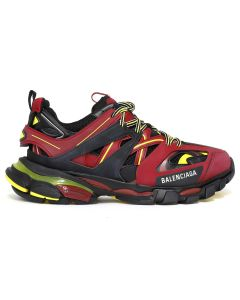 BALENCIAGA W1GB1/FABRIC SNEAKER RUBBER / 6575 : BORDEAUX-YELLOW