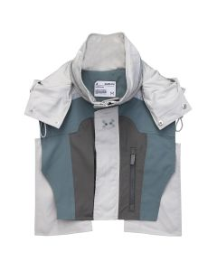 C2H4 COLOR BLOCKED TACTICAL 3M VEST / FROSTED GREEN