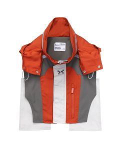 C2H4 COLOR BLOCKED TACTICAL 3M VEST / CINNABAR