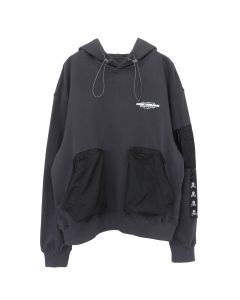 C2H4 x mastermind JAPAN SKULL PRINT ZIP POCKET HOODIE / DARK GRAY