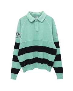 C.E STRIPE COLLARED SWEAT / GREEN