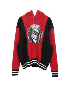 C.E RIB PANELED HEAVY HOODY / RED