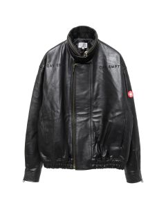 C.E C.R LEATHER JACKET / BLACK