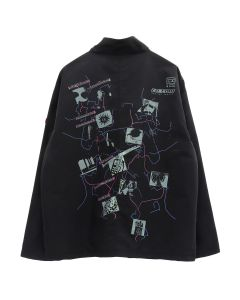 C.E DESIGN WORLD ZIP JACKET / BLACK