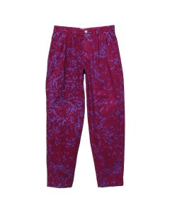 C.E COLOUR-NOISE PRINT WIDE CHINOS / RED