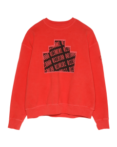 C.E OVERDYE NUMBERS ZIGGURAT CREW NECK / RED