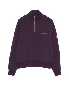 C.E EXTERIOR HALF ZIP SWEAT / PURPLE