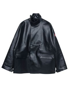 C.E RUBBER COAT / BLACK