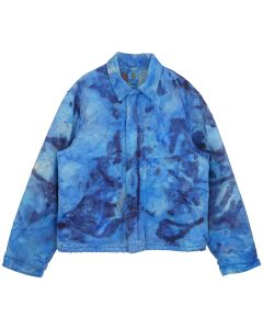 FRUITION DRIP DYE AQUAMARINE CARHARTT JACKET / DRIP DYE AQUAMARINE