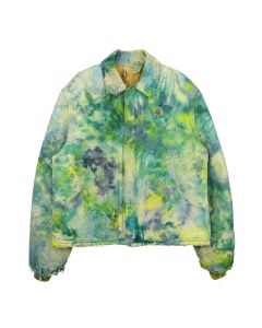 FRUITION DRIP DYE REEF GREEN CARHARTT JACKET 01 / DRIP DYE REEF GREEN