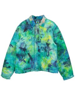 FRUITION DRIP DYE REEF GREEN CARHARTT JACKET 02 / DRIP DYE REEF GREEN