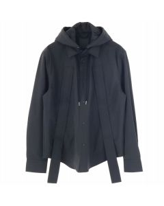 CRAIG GREEN HANDLE HOOD SHIRT / BLACK