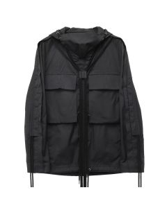 CRAIG GREEN FOLD HOOD SHIRT / BLACK