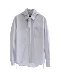 CRAIG GREEN HOOD SHIRT / GREY STRIPE