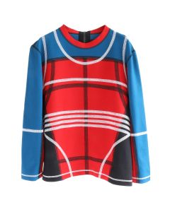 CRAIG GREEN PANELLED SWEATSHIRT / RED-BLUE-WHITE