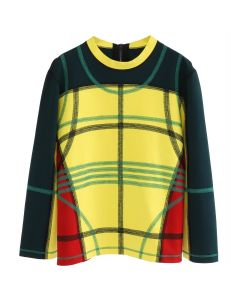 CRAIG GREEN PANELLED SWEATSHIRT / GREEN-YELLOW-ORANGE