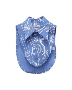 Charles Jeffrey LOVERBOY LITTLE YETI BIB / BLUE PRINT