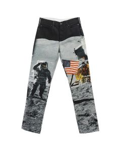 CALVIN KLEIN JEANS EST. 1978 MOON LANDINGS STRAIGHT / BLACK