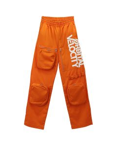 CALVIN KLEIN JEANS EST. 1978 GRAPHIC WORK PANTS / ORANGE