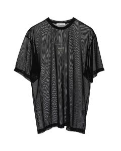 CMMN SWDN ARNO PRINT-SHORT SLEEVE LOOSE / BLACK