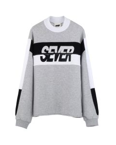 SEVER CREWNECK / GREY-BLACK-WHITE
