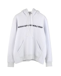 SEVER RUSSIAN MAFIA NEW WORLD ORDER HOODIE / WHITE
