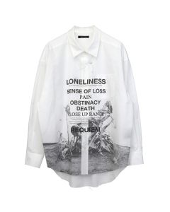 CHRISTIAN DADA COTTON LAWN PRINT SHIRT / OFF