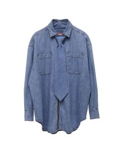 DIESEL RED TAG PROJECT BY SHAYNE OLIVER TIE SHIRT / 069EV INDIGO