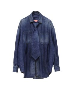 DIESEL RED TAG PROJECT BY SHAYNE OLIVER TIE SHIRT / 069EZ INDIGO
