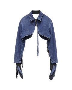 DIESEL RED TAG PROJECT BY SHAYNE OLIVER BOMBER GLOVE BOLERO / 080AW INDIGO