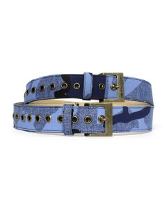 DIESEL RED TAG PROJECT BY SHAYNE OLIVER UNISEX DOUBLE BELT / P2162 INDIGO