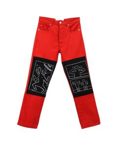 Études x Keith Haring CORNER CANVAS KEITH HAR.X MTA TROUSERS / RED