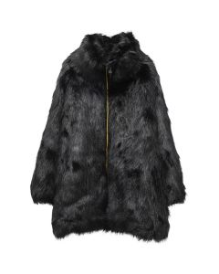 FAITH CONNEXION KWAY REVERSIBLE FUR COAT / 001 : BLACK