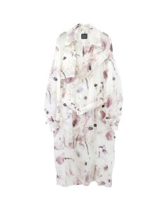 Feng Cheng Wang FLOWER PRINT NYLON TRENCH COAT / FLOWER PRINT