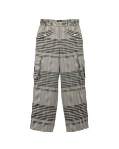 Feng Cheng Wang CARGO STRAIGHT TROUSERS / CHECK