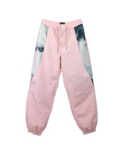 Feng Cheng Wang WATERCOLOUR PRINT PANELLED JOGGING PANTS / ROSE-PRINT