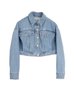 Feng Chen Wang x Levi's EMBROIDERED CROPPED TRUCKER JACKET / LIGHT INDIGO