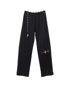 FOO AND FOO WAFFLE SWEATS / BLACK