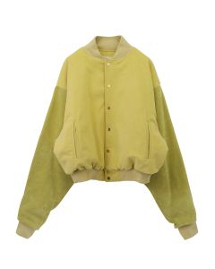 FEAR OF GOD SIXTH COLLECTION 6TH COLLECTION VARSITY JACKET / 705 : GARDEN GLOVE YELLOW