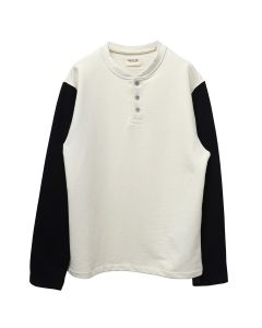 FEAR OF GOD SIXTH COLLECTION LONG SLEEVE HENLEY / 113 : CREAM-VINTAGE BLACK