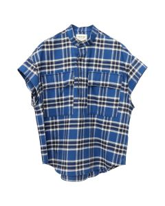FEAR OF GOD SIXTH COLLECTION SHORT SLEEVE FLANNEL / 463 : BLUE PLAID