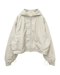 FEAR OF GOD SIXTH COLLECTION NYLON FULL ZIP HOODIE / 051 : BONE
