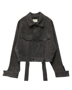 FEAR OF GOD SIXTH COLLECTION SUEDE TRUCKER JACKET / 204 : DARK BROWN